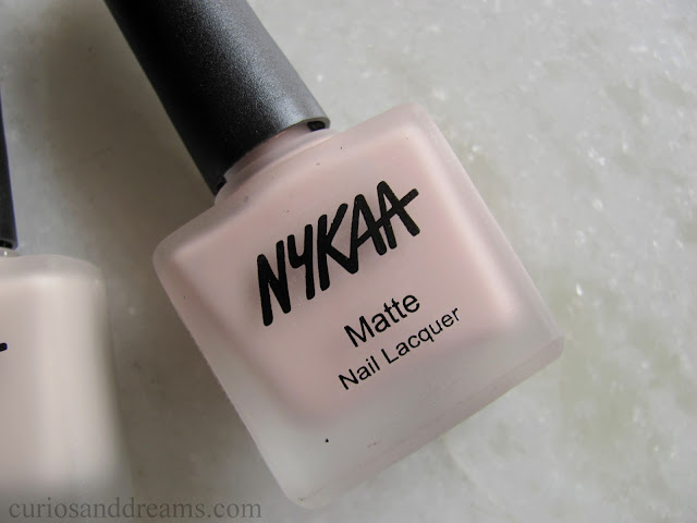 Nykaa Matte Nail Lacquer review, Nykaa Matte Nail Lacquer Pink Meringue review