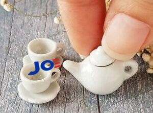 image of an impossibly tiny tea set, with Joe Biden's logo pouring out into one of the cups