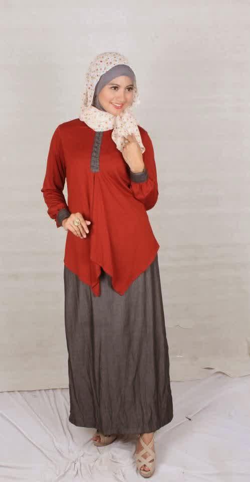 Contoh Baju Muslim Gamis Terbaru