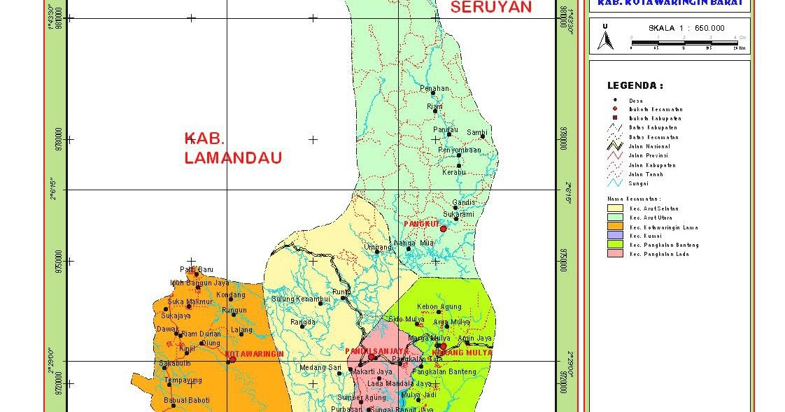 Peta Kota: Peta Kabupaten Kotawaringin Barat
