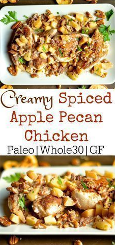 Creamy Spiced Apple Pecan Chicken (Dairy-Free, Paleo, Whole30)