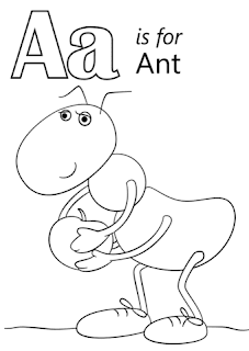 Aa Is For And Coloring Pages For Print