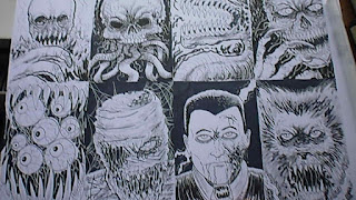 horror sketch cards