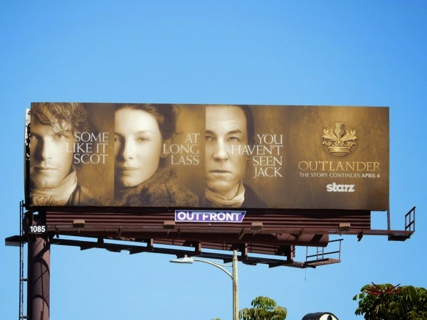 Outlander midseason 1 teaser billboard