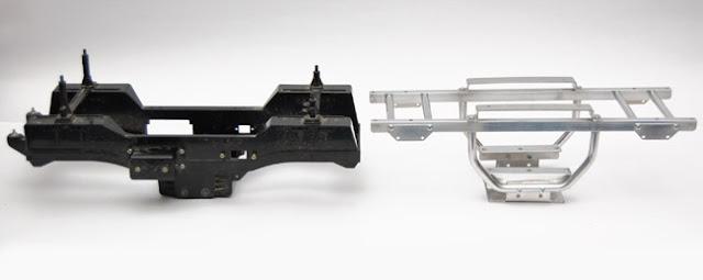 Tamiya Clod Buster chassis vs ESP Clodzilla II chassis