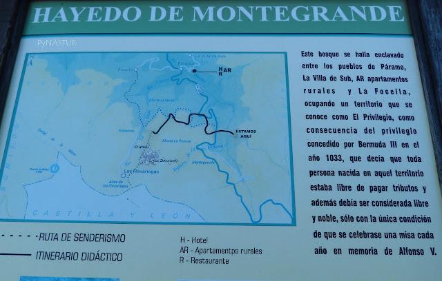 Panel explicativo Ruta Cascada del Xiblo