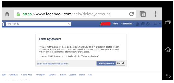 How do i permanently delete facebook step 8 when done on the completely delete account box enter your facebook password in the password field ccuart Image collections