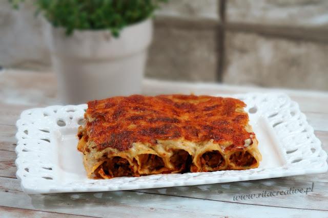 zapiekane cannelloni z mięsem mielonym