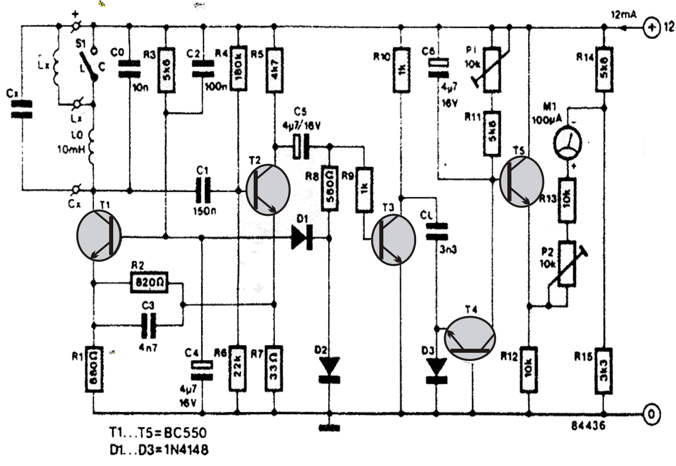 function generator capacitance and inductance meter schematic
