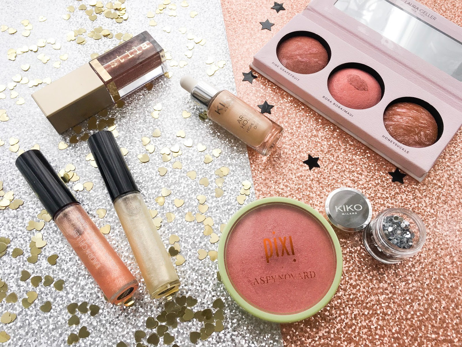 glitter makeup, glittery makeup picks, holiday makeup, makeup menu for parties, party makeup