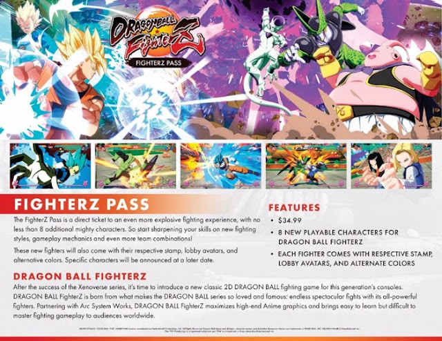 Dragon Ball The Fighterz Pass