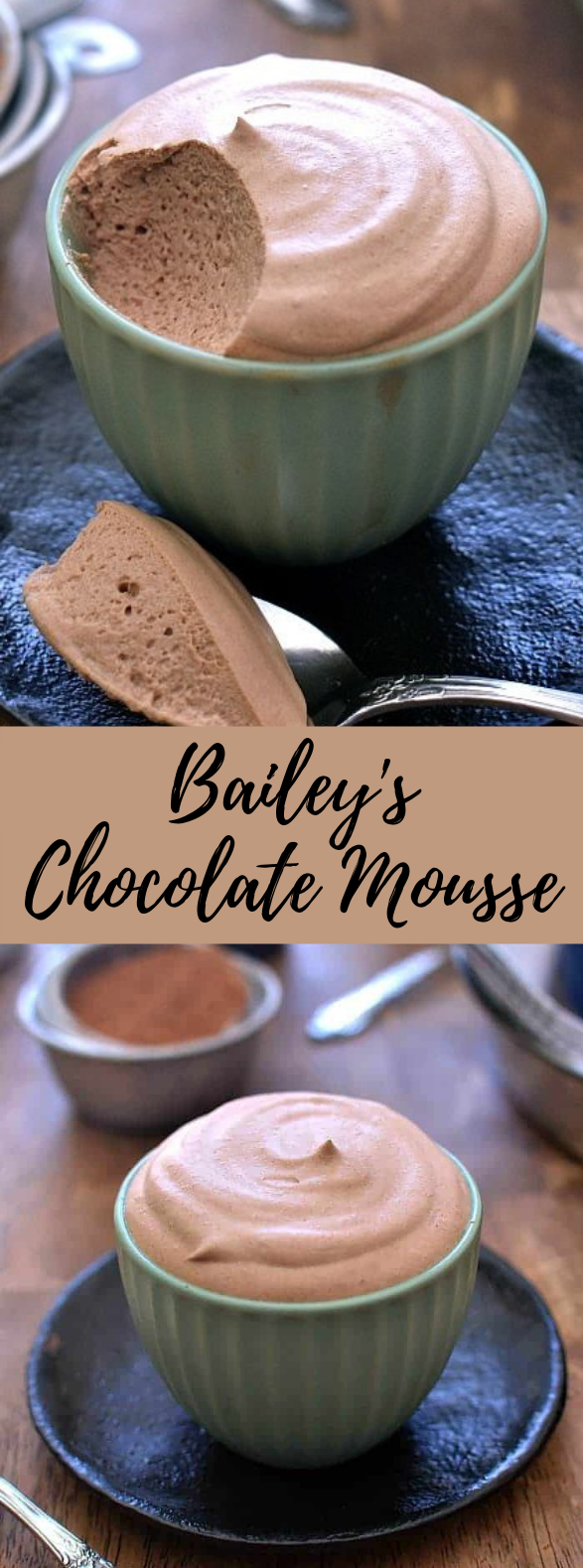 Bailey's Chocolate Mousse #Dessert #SimpleRecipe