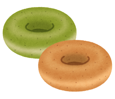焼きドーナツのイラスト