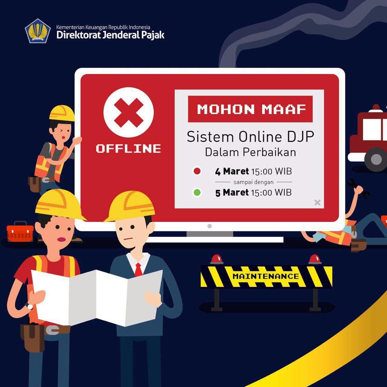 DJP Online Under Maintenance