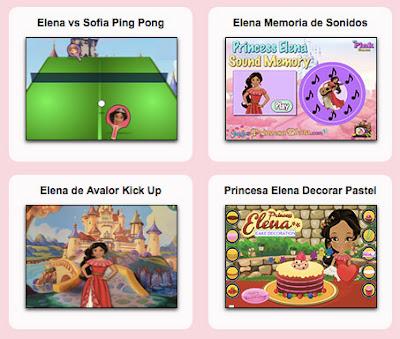 juegos de la princesa elena de disney en español