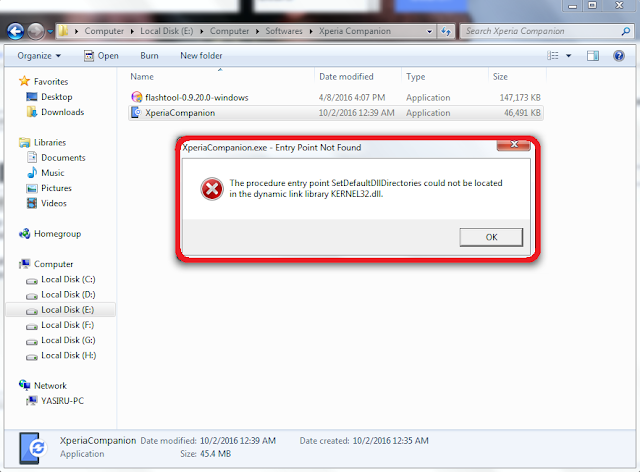 Xperia Software Repair Error - 0425
