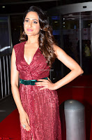 Pragya Jaiswal stunning Smiling Beauty in Deep neck sleeveless Maroon Gown at 64th Jio Filmfare Awards South 2017 ~  Exclusive 029.JPG