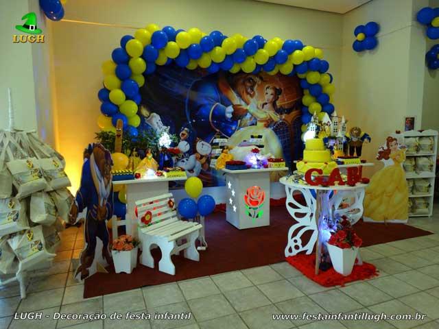 A Bela e a Fera provençal, decoração de aniversário