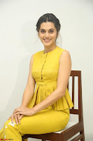Taapsee Pannu looks mesmerizing in Yellow for her Telugu Movie Anando hma motion poster launch ~  Exclusive 036.JPG