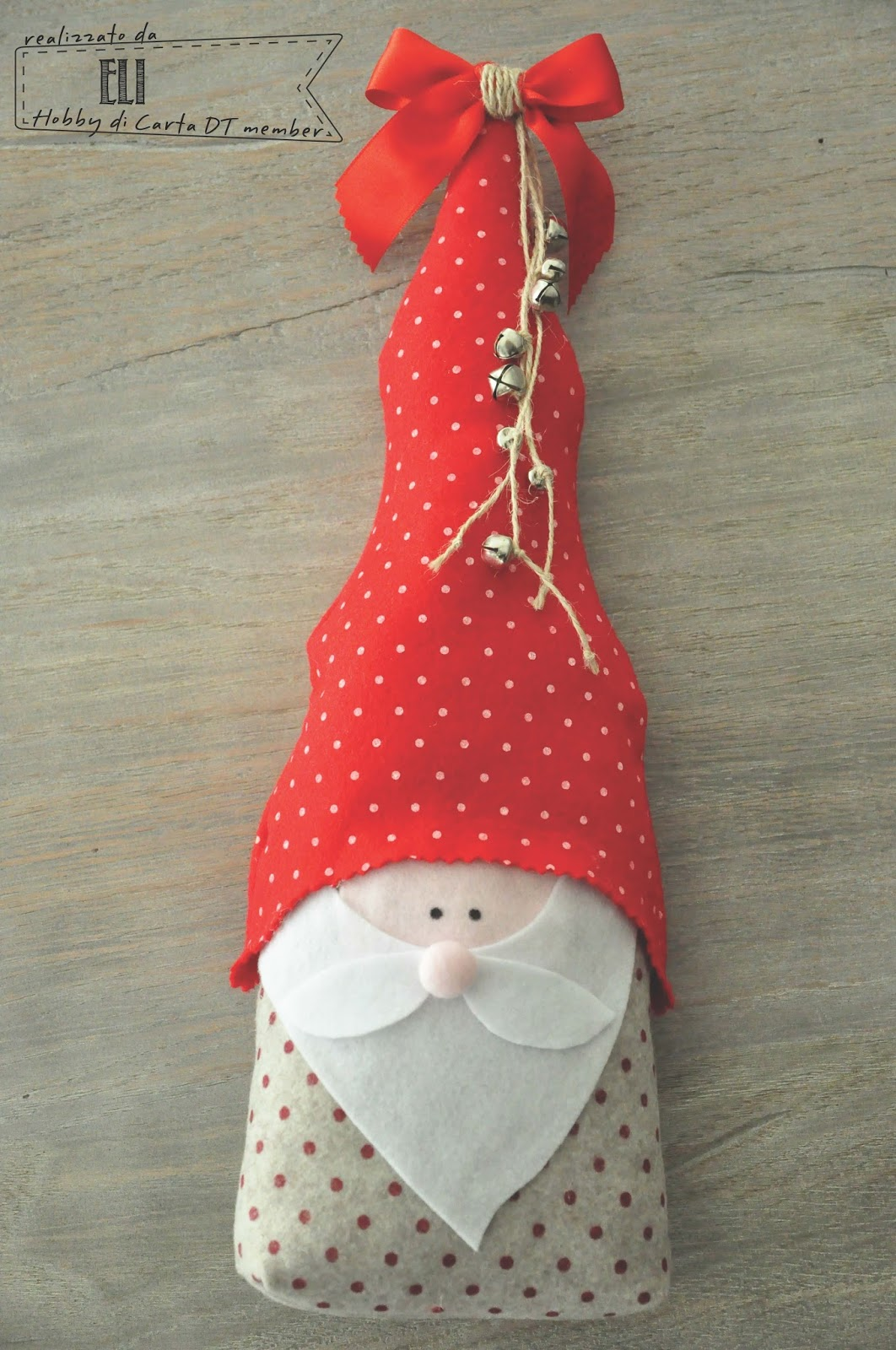 ... del cartamodello potete utilizzarlo come fermaporta...o se lo volete  rimpicciolire diventerà un allegra decorazione per il vostro albero di  Natale! 018a2115200a