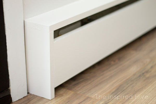 Build your own DIY wooden baseboard heater covers.