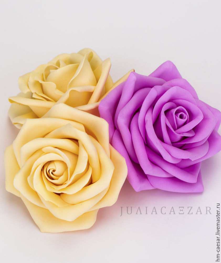 Delicate Rose of Foamiran. DIY Tutorial