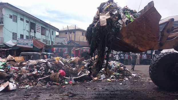 PDP bereates Gov Rochas, clears refuse dump on Douglas Road, Owerri