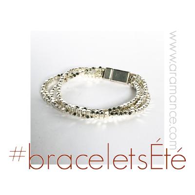 Bracelets soie, nacre, pierres, perles, métal, argent, cuir...