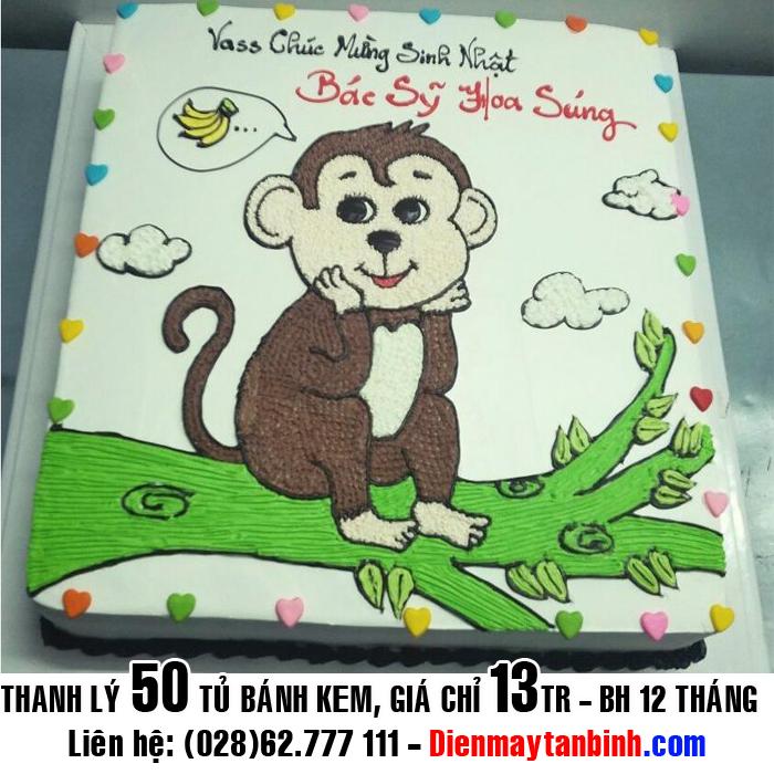 Bánh kem ngộ nghĩnh: Tổng hợp bánh kem hình con khỉ siêu đẹp