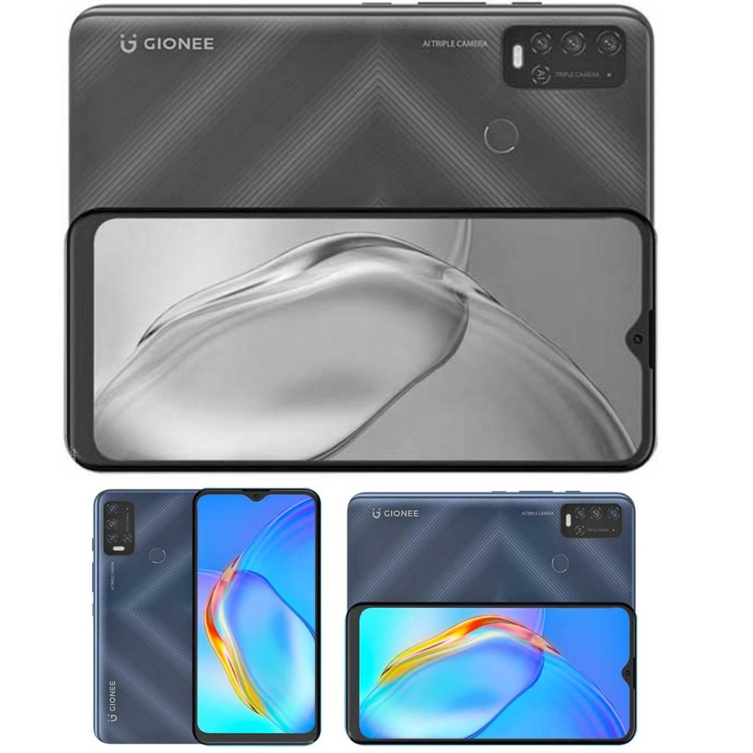 Gionee P15 Pro Smartphone - Specs: 6000mAh Battery, 8Core Helio G35, Android 11, 64GB/3GB Memory, 6.82-Inch HD Screen, AI Cam Lens