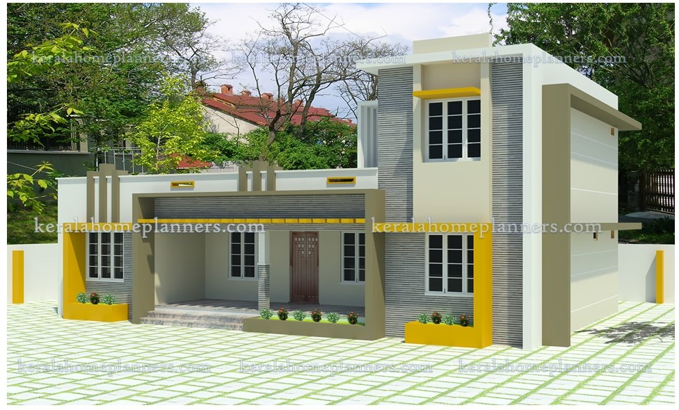 Low Cost 3 Bedroom Modern Home Design for 18.5 Lakhs in ...