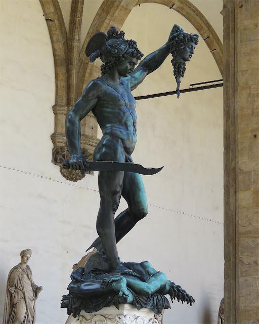 Perseus with the Head of Medusa by Benvenuto Cellini, Loggia dei Lanzi, Piazza della Signoria, Florence