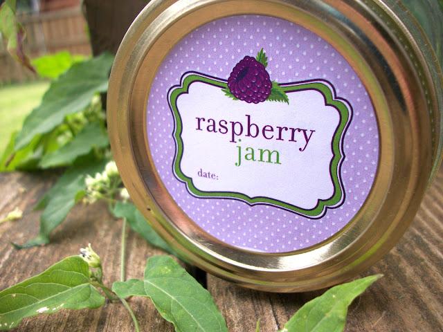 Cute Black Raspberry Jam mason jar labels