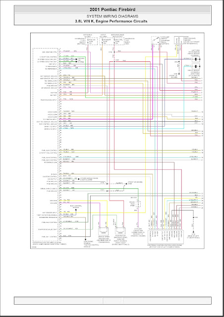 2001 Pontiac Firebird System Wiring Diagrams 16 3 8l Vin K  Engine Performance Circuits