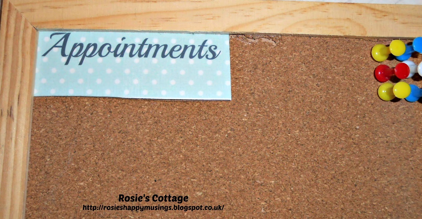 """The """"Appointments"""" printable is attached to the cork board in our hallway."""