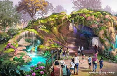 Fantasy Springs Tokyo Disney Sea Cave Concept Art