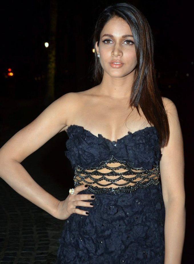 Lavanya Tripathi In Blue Dress At Jio Filmfare South Awards 2017