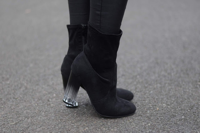 Sammi Jackson - Everything5pounds Perspex Heel Sock Boots