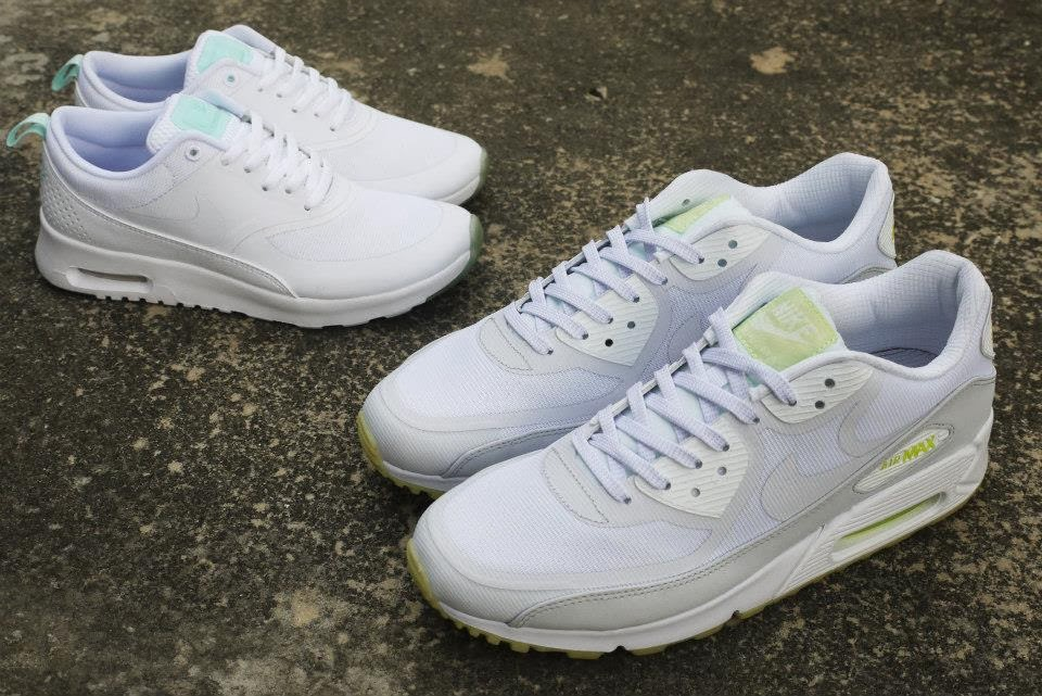 new product 14fc1 f214b Nike Air Max 90 and Air Max Thea - Glow in the dark