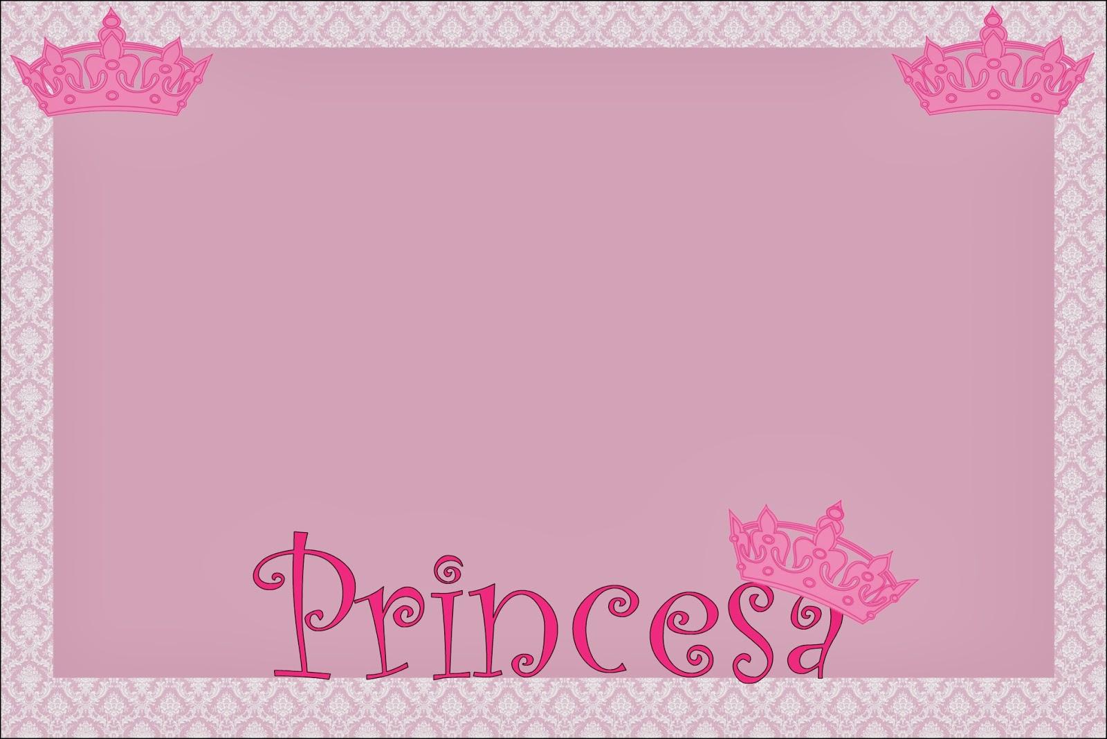 Princesa: Tarjetas, Imágenes e Invitaciones para Imprimir Gratis ...