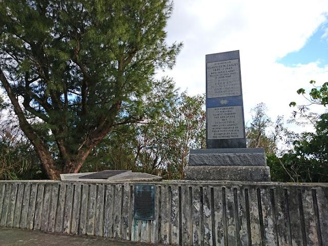 米国陸軍准将クローディアス・M・イーズリー追悼碑の写真