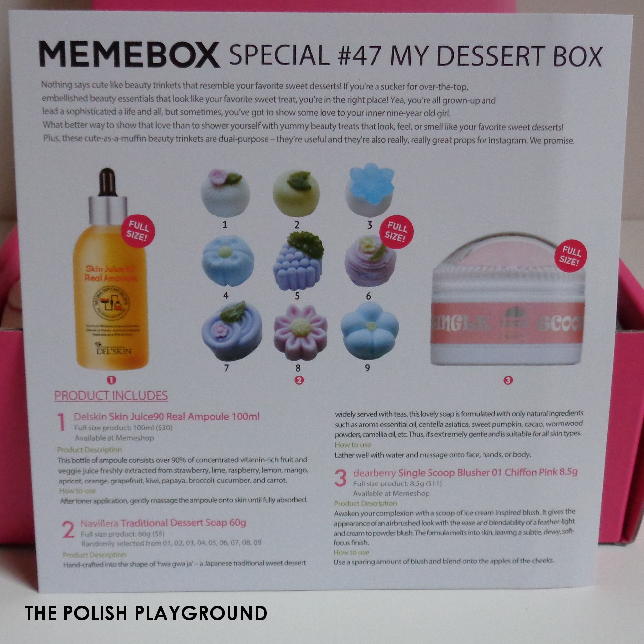 Memebox Special #47 My Dessert Box Unboxing