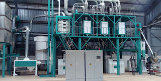 finished installed maize mill plant