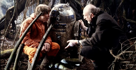 Mark Hamill and Irvine Kershner discussing movie making