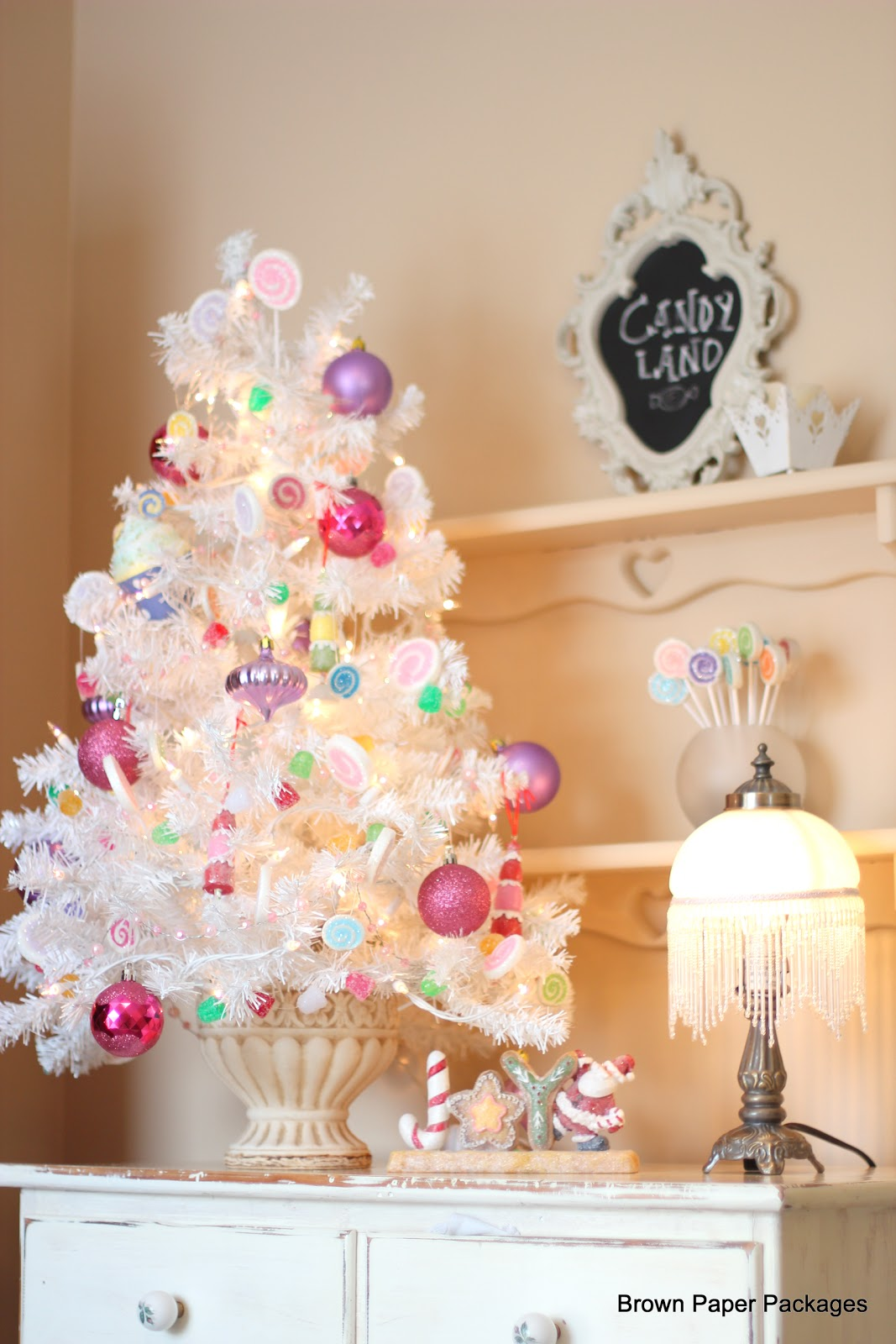 4 foot white christmas tree merry and hy new year 2018
