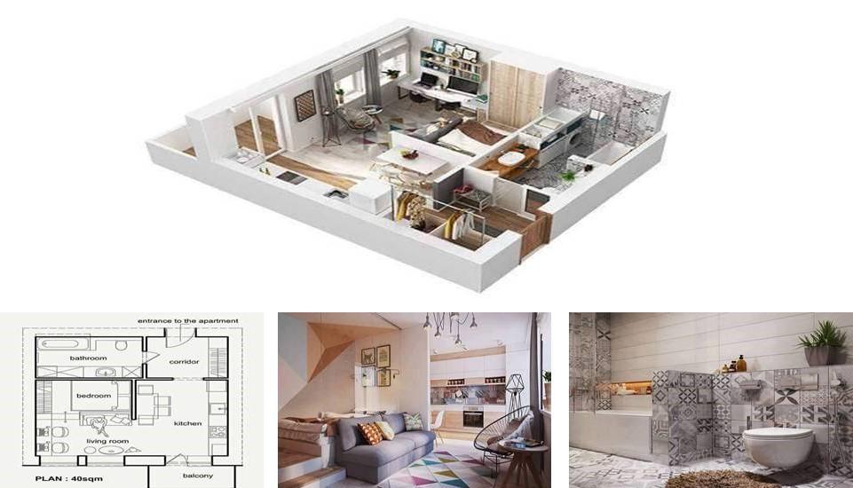 40 Square Meter Apartment Design In Rome Decor Units