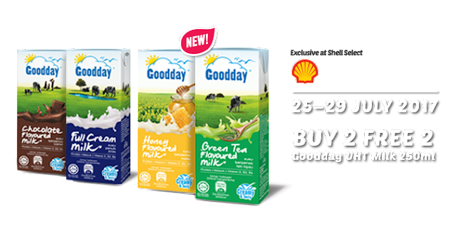 Shell Goodday UHT Milk 250ml Buy 2 Free 2