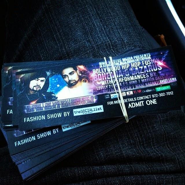 bohemia and lazarus - concert tickets - pesa nasha pyar - desi hip hop