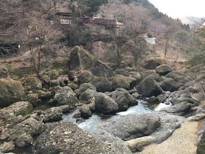 袋田の滝 吊り橋付近