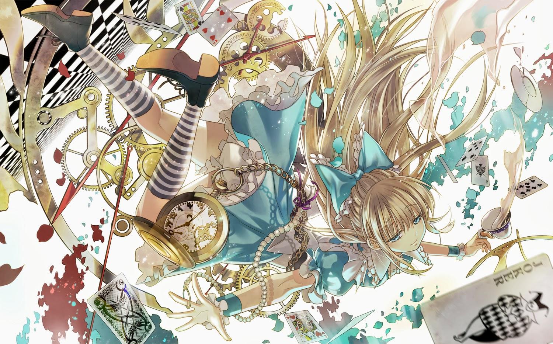 Phi Stars Alice In Wonderland Anime Girl Wallpaper By Starpri